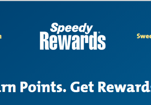 Register for SpeedWay Rewards @ www.speedyrewards.com