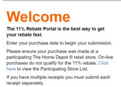 Home Depot 11% Rebates Review