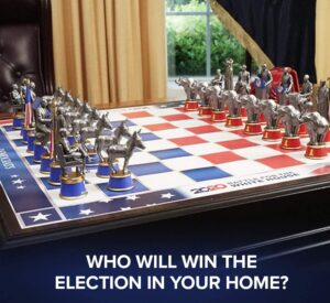 2020 Battle for The White House Election Chess Set Review