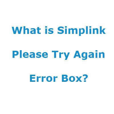 What is Simplink LG TV Error